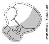 contour boxing glove icon... | Shutterstock .eps vector #568034185
