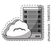 web hosting or data center... | Shutterstock .eps vector #568035151
