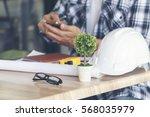 business man building... | Shutterstock . vector #568035979