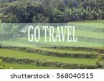 go travel concept with bali's... | Shutterstock . vector #568040515