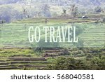 go travel concept with bali's... | Shutterstock . vector #568040581