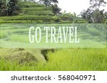 go travel concept with bali's... | Shutterstock . vector #568040971