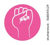 fist feminism related icons... | Shutterstock .eps vector #568045129