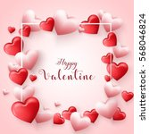 valentine's day background | Shutterstock . vector #568046824