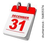 3d Illustration Of Calendar...