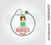 international nurses day vector ... | Shutterstock .eps vector #568064605
