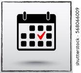 calendar sign icons  vector... | Shutterstock .eps vector #568066009