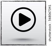 play button sign icon  vector... | Shutterstock .eps vector #568067341