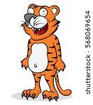 tiger cartoon drawings | Shutterstock .eps vector #568069654