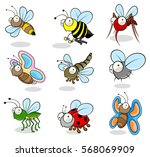 small insects cartoon drawings | Shutterstock .eps vector #568069909