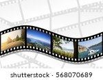 filmstrip on the white... | Shutterstock . vector #568070689