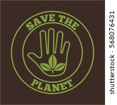 seal stamp of save the planet... | Shutterstock .eps vector #568076431