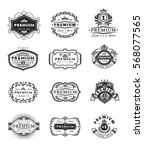 badges  stickers premium... | Shutterstock .eps vector #568077565