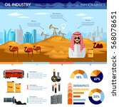 oil production in arab... | Shutterstock .eps vector #568078651