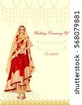 vector design of indian woman... | Shutterstock .eps vector #568079881