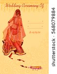 vector design of indian woman... | Shutterstock .eps vector #568079884