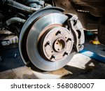 closeup disc brake of the... | Shutterstock . vector #568080007