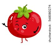 cute vegetable tomato cartoon... | Shutterstock .eps vector #568080274
