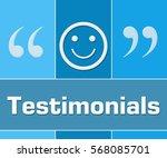 testimonials blue grid    Shutterstock . vector #568085701