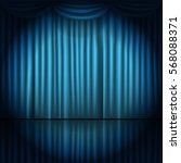stage curtains with spot light... | Shutterstock .eps vector #568088371