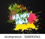 illustration of indian festival ... | Shutterstock .eps vector #568093561