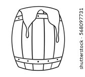 barrel of honey icon in outline ... | Shutterstock .eps vector #568097731