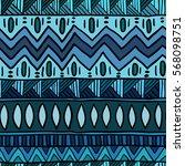 seamless hand drawn boho pattern   Shutterstock .eps vector #568098751
