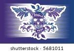 skull wings emblem | Shutterstock .eps vector #5681011