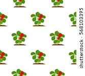 strawberry icon cartoon. single ... | Shutterstock .eps vector #568103395