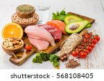 selection of food that is good... | Shutterstock . vector #568108405