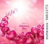 valentine's day. abstract... | Shutterstock .eps vector #568111771
