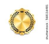 seal award gold icon. blank... | Shutterstock .eps vector #568116481