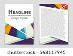 abstract vector layout... | Shutterstock .eps vector #568117945