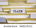 Small photo of Claim word on card index paper