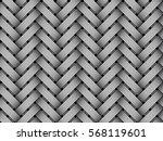 vector woven fiber seamless... | Shutterstock .eps vector #568119601