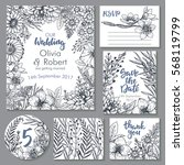 vector wedding collection.... | Shutterstock .eps vector #568119799