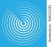 radar abstract icon symbol...   Shutterstock .eps vector #568121281