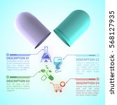 medical information poster with ... | Shutterstock .eps vector #568127935