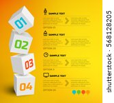 infographic design concept with ... | Shutterstock .eps vector #568128205