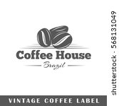 coffee label isolated on white... | Shutterstock .eps vector #568131049
