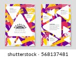 abstract vector layout... | Shutterstock .eps vector #568137481
