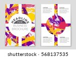 abstract vector layout...   Shutterstock .eps vector #568137535
