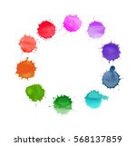 vector round frame made of... | Shutterstock .eps vector #568137859