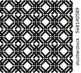 seamless monochrome square... | Shutterstock .eps vector #568140589