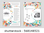 abstract vector layout... | Shutterstock .eps vector #568148521