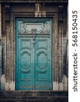 Weathered  Wooden Door In An...