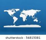 flat world map - stock photo