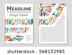abstract vector layout... | Shutterstock .eps vector #568152985