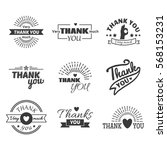 thank you text lettering vector ... | Shutterstock .eps vector #568153231