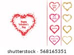 set of isolated grunge hearts... | Shutterstock .eps vector #568165351